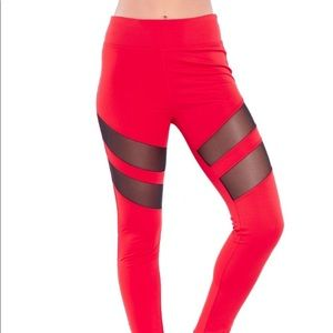 Electric Yoga tummy tuck mesh racer leggings